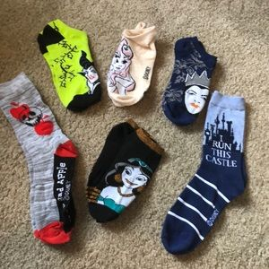 NWOT 6 Disney Sock Set